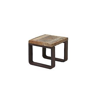 ライト&リビングサイドテーブル45x45x40cm クエンカ鉄道ウッド