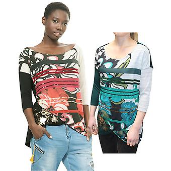 Desigual Women's 3/4 Sleeve Loli Top