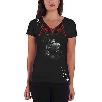 Emperor T Shirt Rider band logo Official Womens distressed choker