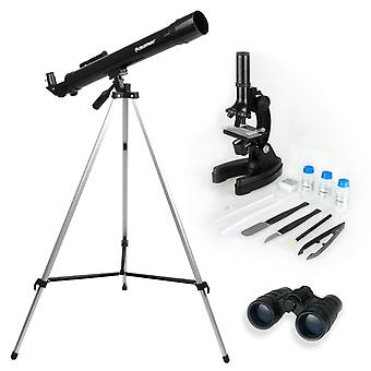 Celestron Telescope,Microscope and Binocular Science Kit