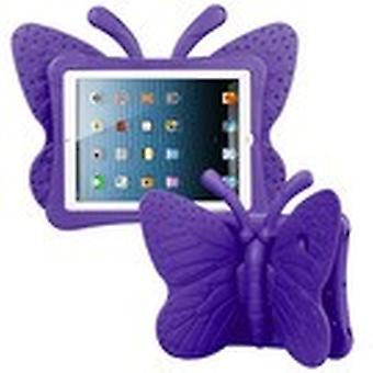 Purple Butterfly Kids Drop-resistant Protector Case for iPad Air (A1474,A1475,A1476)