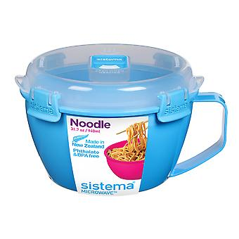 Sistema Klip It Microwave Noodle Bowl, 940ml, Blue