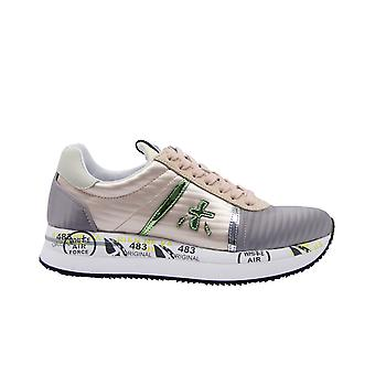 Premiata Conny3617 Women's Pink Leather Sneakers