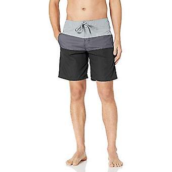 Kanu Surf Men's Phinn Solid Panel Board Short, Grey, 38