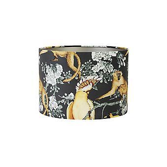 Light & Living Cylinder Shade 30x30x21cm Velours Parrot Jungle