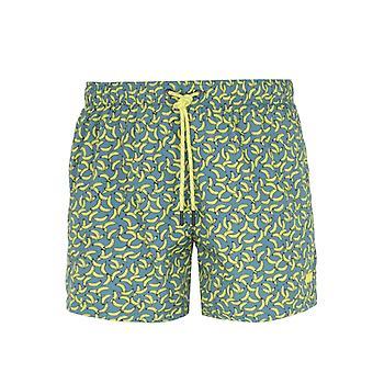 BOSS Rockfish Banana Print Swim Shorts