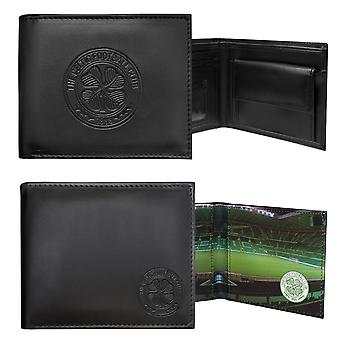 Celtic FC Officiel Football Cadeau Embossed Crest Portefeuille noir