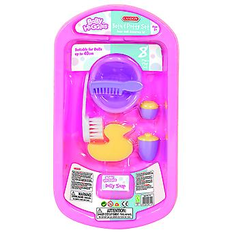 Casdon Baby Huggles Doll Bath & Potty Play Set Pink For Toy Dolls Ages 3 Years+