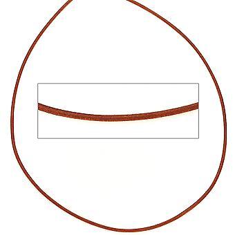 Kvinders læder snor orange omkring 1 m lang halskæde kæde læder