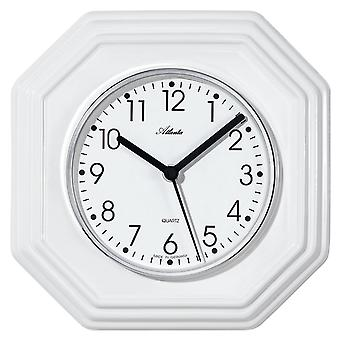Atlanta 6010 kitchen clock wall clock kitchen quartz analog ceramic white octagonal