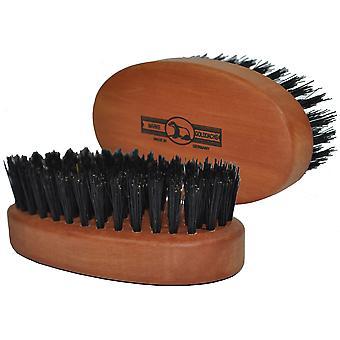 Gold dachshare beard brush pear wood