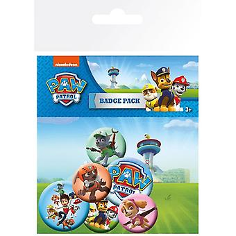 Paw Patrol Pin Button Badges Set