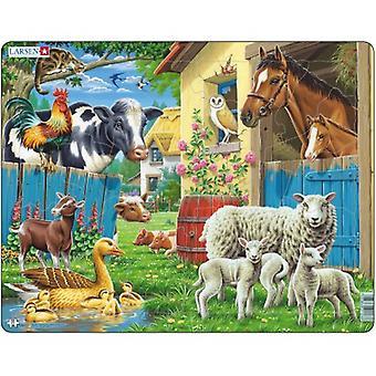 Larsen Jigsaw Puzzle - Farm Animals, 23 Piece