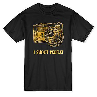 «Я снимаю людей!» Смешные цитаты Старый фотоаппарат графический Мужская футболка