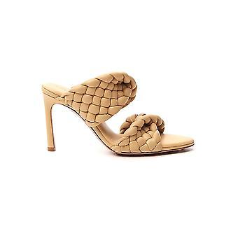 Bottega Veneta 618757vbtg09483 Dames's Beige Leather Sandals