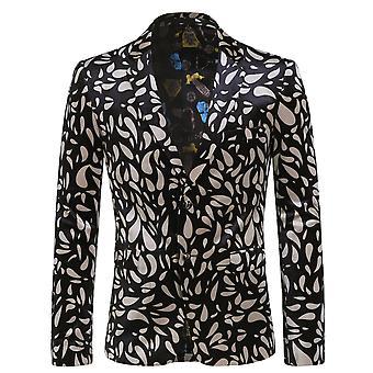 Allthemen Men's Blazers Slim Fit Two Bottons Suit Jackets Business&Casual Coats Printed Blazer