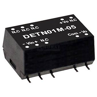 Mean Well DETN01L-12 DC/DC converter (module) 42 mA 1 W No. of outputs: 2 x