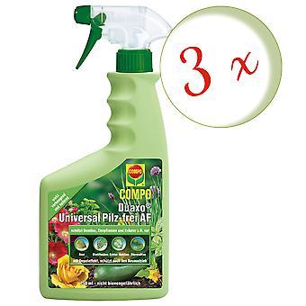 Sparset: 3 x COMPO Duaxo® Universal Mushroom-Free AF, 750 ml