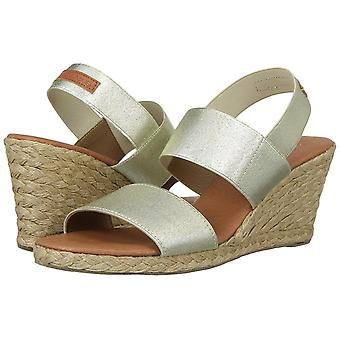 André Assous Womens Allison Leather Open Toe Casual Espadrille Sandals
