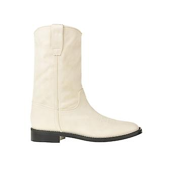 Alberta Ferretti Ezgl095045 Damen's Weiße Lederstiefel