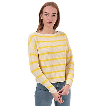 Women's Only Marina Life Striped Jumper in Gold
