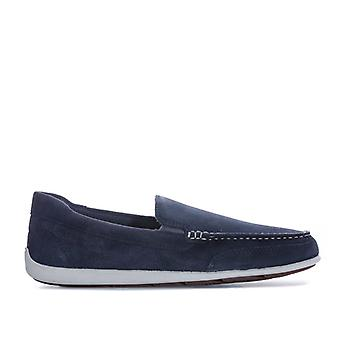 Men's Rockport Bennett Lane 4 Venetian Slip On Shoes in Blue