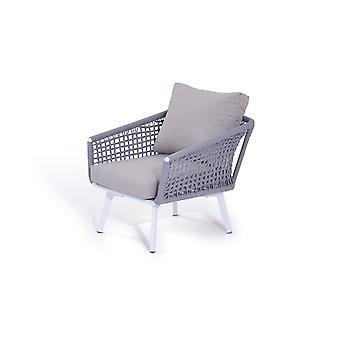 Touw fauteuil Diva - zijdegrijs
