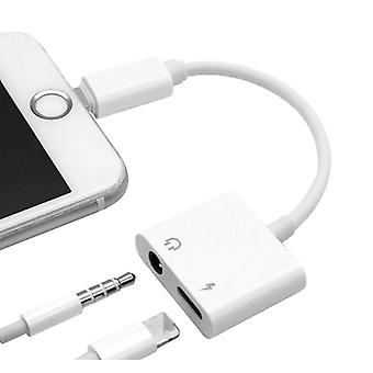 Mini 2 In 1 Splitter Adapter - Earphone 3.5mm - Jack Audio Charger Cable For Apple Iphone - Xr Xs Max X 8 7 Plus To 3.5 Mm Converter