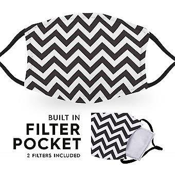 Chevron - Reusable Childrens Cloth Face Masks - 2 Filters Included