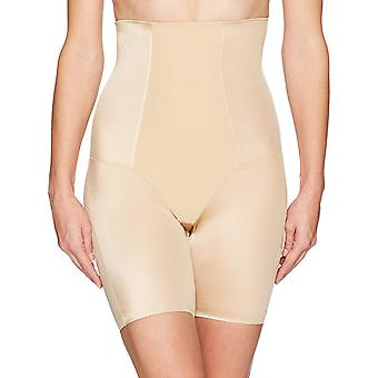 Arabella Women's Shine High Waist Thigh Control Shapewear with Spacer, Sand, ...