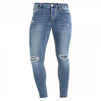Kings Will Dream Lumor Super Skinny Stretch Denim Blue Ripped Jeans