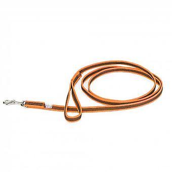 """Julius-K9 Color & Grey Super-Grip Leash -Orange-Grey Width (1/2"""" / 14mm) Length (7ft / 2.2 m) Max for 66lb/30 kg Dog"""