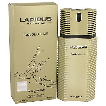 Lapidus Gold Extreme by Ted Lapidus Eau De Toilette Spray 3.4 oz / 100 ml (Men)