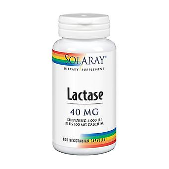 Lactase 100 vegetable capsules of 40mg