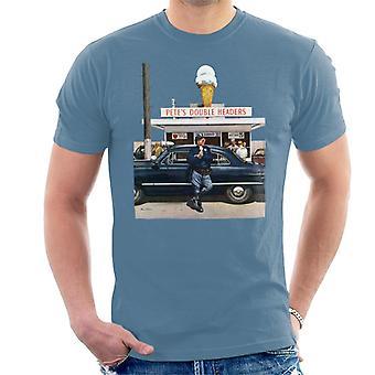 Lørdag aften Post Ice Cream Politimand Men's T-shirt