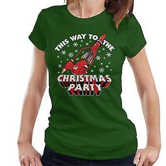 Thunderbirds 3 This Way To The Christmas Party Women's T-Shirt