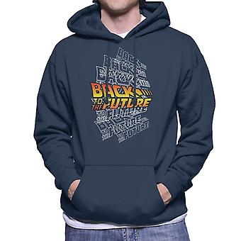 Back To The Future Classic Layered Logo Men's Hooded Sweatshirt