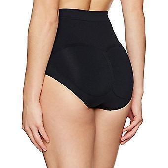 Brand - Arabella Women's Seamless Brief Shapewear with Tummy Control, Black, Medium