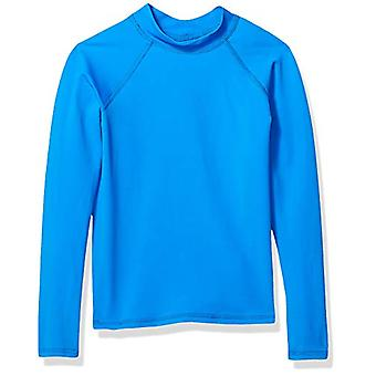 Essentials Big Boys' Long-Sleeve Rashguard, Blue, XL