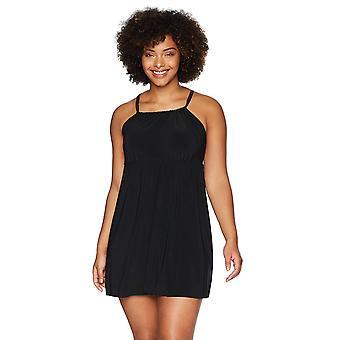 Coastal Blue Women's Plus Size Control Swimwear Single Strap Longline Tankini...