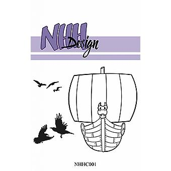 NHH Design Viking Ship Clear Stamps