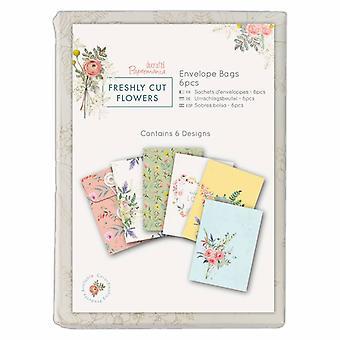 Papermania Freshly Cut Flowers Envelopes Bags (6pk) (PMA 165126)