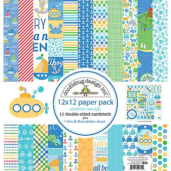 Doodlebug Design Anchors Aweigh 12x12 Inch Paper Pack