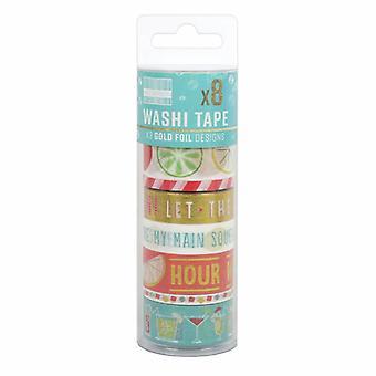 Primera edición Washi Tape Tubs Cócteles (8pcs) (FEWTT007)