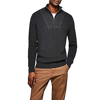 Meraki Men's Quarter Zip Sweater, Charcoal Melange, XL (US L - XL)