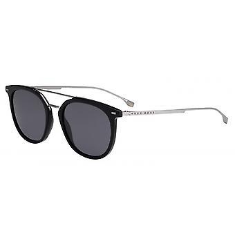 Solglasögon Män 1013/S807/IR Mäns 53 mm svart/grå