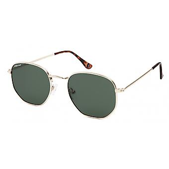 Sunglasses Unisex Chicago Polarized Gold with Green Lens (pchi02)