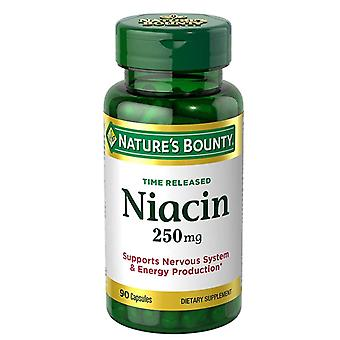 Nature's bounty niacine, 250 mg, capsules, 90 ea *