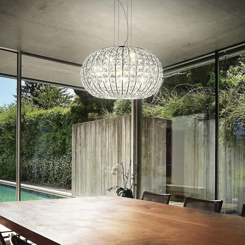 5 Light  Large Ceiling Pendant Chrome, E27