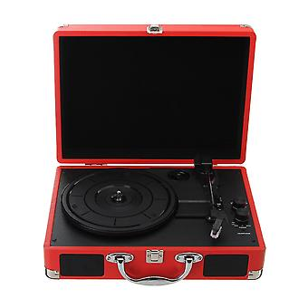 Plastic Wood Retro Rpm Bluetooth Suitcase, Turntable Vinyl Lp Record Phone